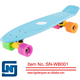 Plastic wave candy fish board cruiser Skateboard with PU Wheel alu frame