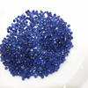 factory wholesale 1.5mm round shape natural blue sapphire loose gemstone for gold jewelry making