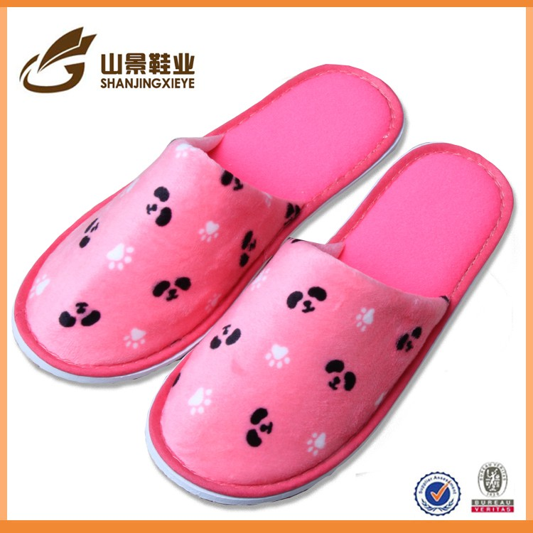beautiful washable super soft velvet custom slipper indoor guest slippers