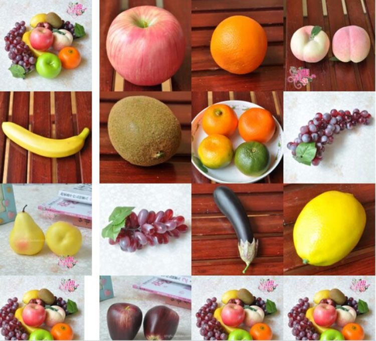Fashion Design Selling Artificial Fruits And Vegetables Set Toys Novelties  And Gifts