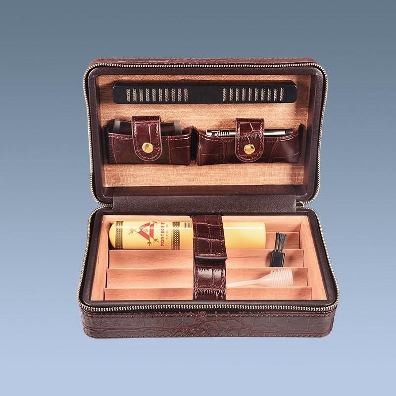 New Arrival Crocodile Leather Cigar Humidors For Sale Used Humidor ...