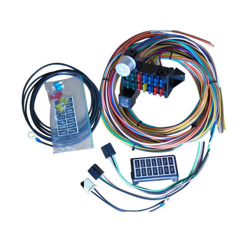 automotive wire harness kits cnch 14 circuit automotive wiring kits fuse box classic universal  cnch 14 circuit automotive wiring kits