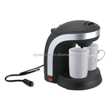 12v Electric Coffee Maker With Two Ceramic Cups 03ltr Plug In