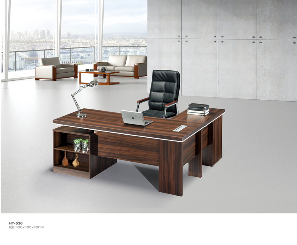 Unique design office manager desk with storage shelf buy for Unique office table