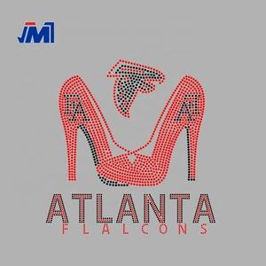 0efeeb0d wholesale AF Atlanta Falcons shoes rhinestone transfer design iron on Motif