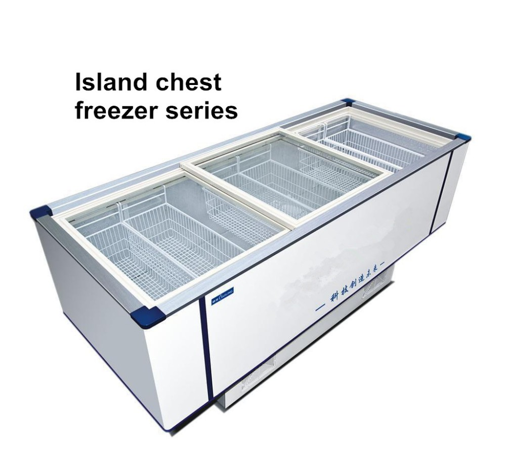 580l Large Island Supermarket Deep Freezer Hotel Kitchen