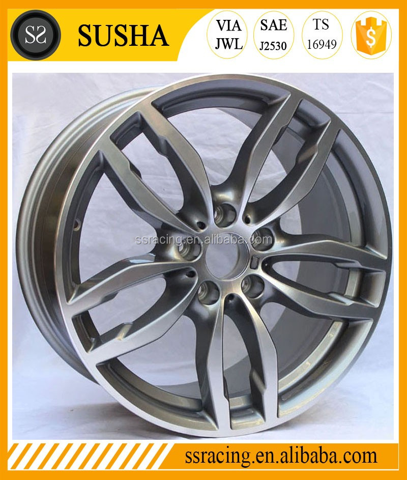 "SS 18"" Replica Gun Metal Aluminum Alloy Rims For 2015 X4"
