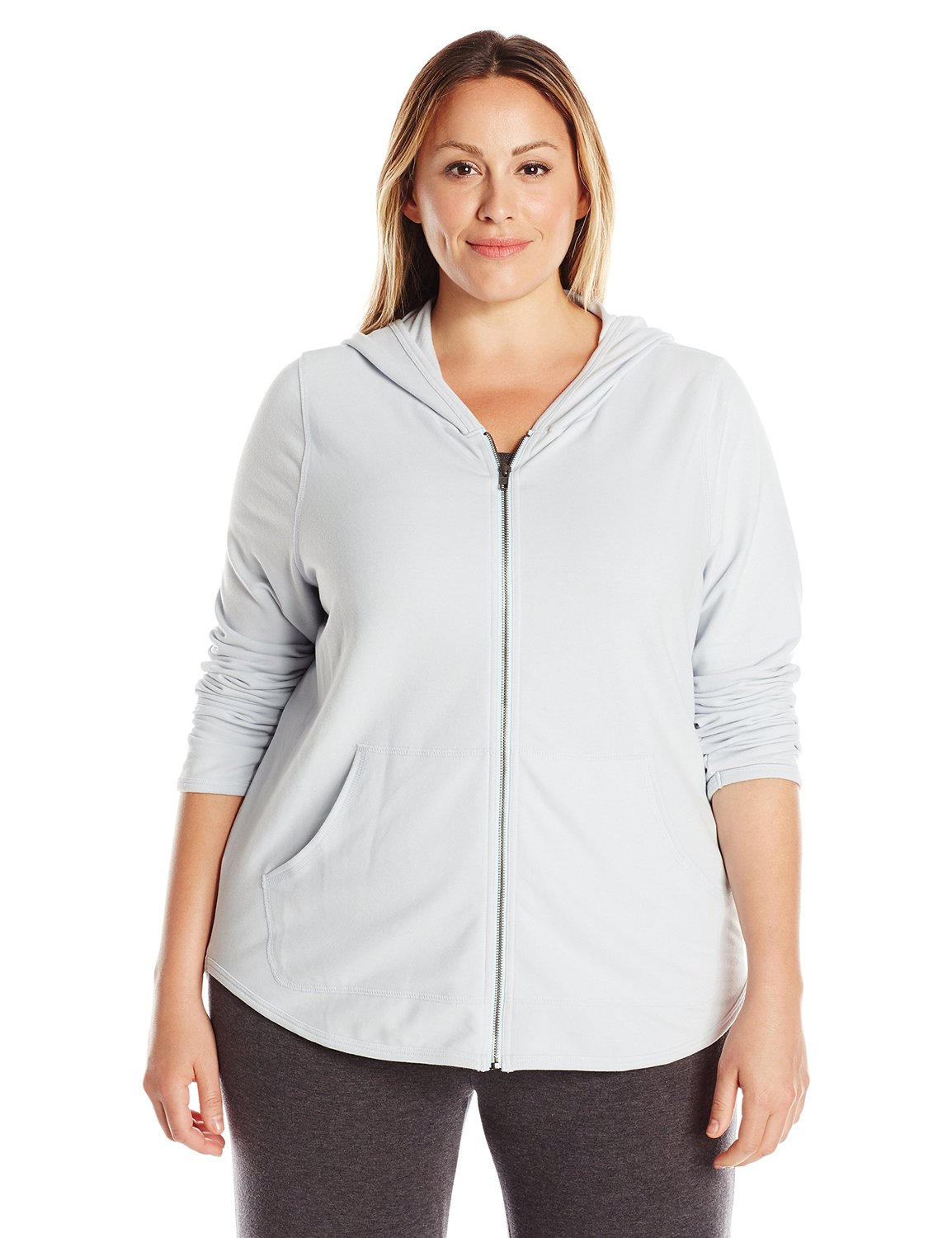 Yummie by Heather Thomson Women's Size Baby French Terry Zip up Hoodie Plus
