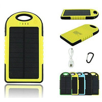 Portable Waterproof Solar power bank 50000mah Dual USB External Battery