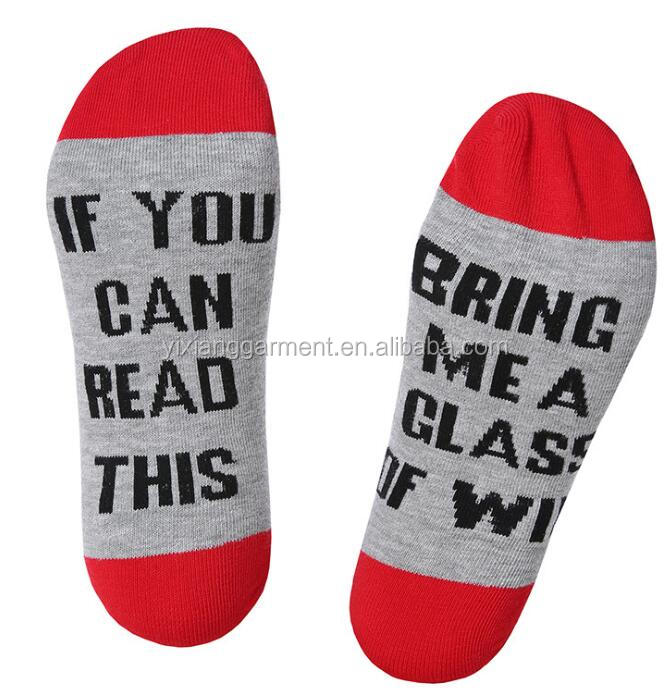 Latest Cheap Woman Cotton IF U CAN READ THIS BRING ME A BEER Letters Sock