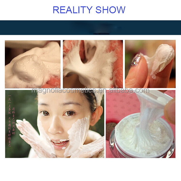 OEM cleaning whitening facial foam cleanser