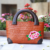 Women Summer Straw Bag Rattan Beach Tote Handbag With Flower Printing
