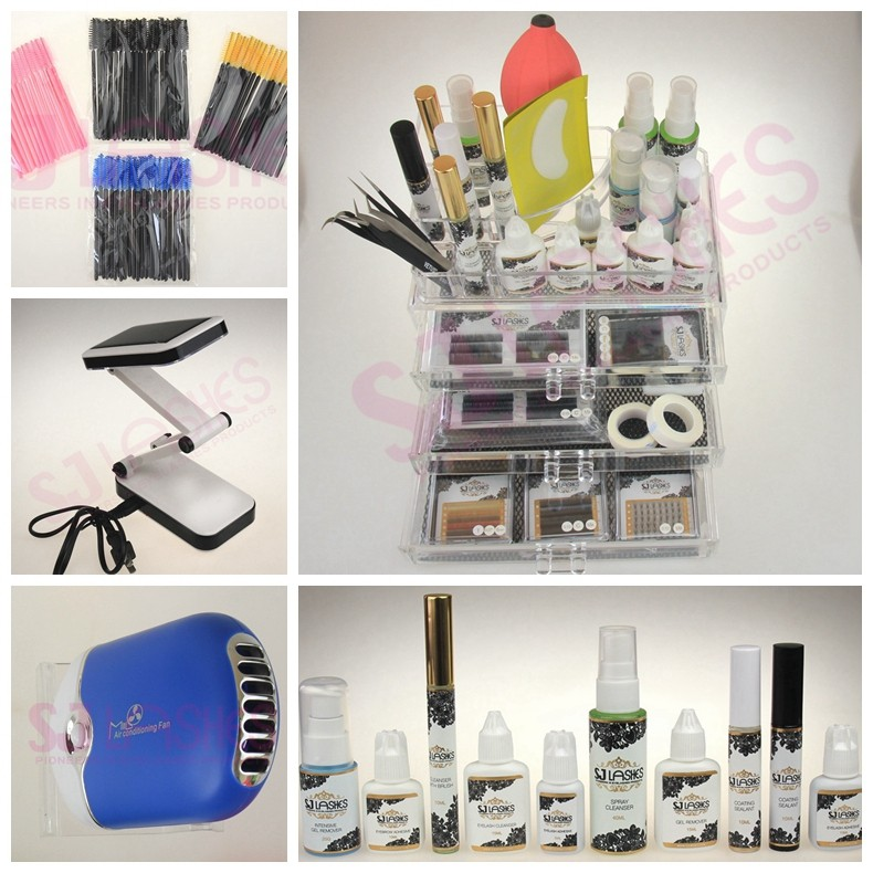 Eyelash Kits Trays acrylic plasticc for in Plastic Materials for Individual Mink Eyelash Extensions