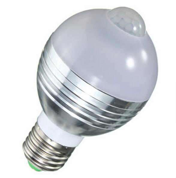 indoor outdoor led motion sensor bulb 7w pir led bulb e27. Black Bedroom Furniture Sets. Home Design Ideas