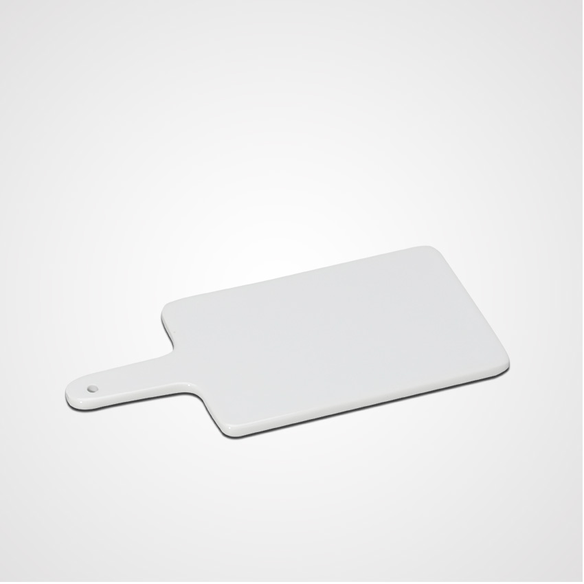 Wholesale Cheap Price Super White Tableware Ceramic Tray With Handle