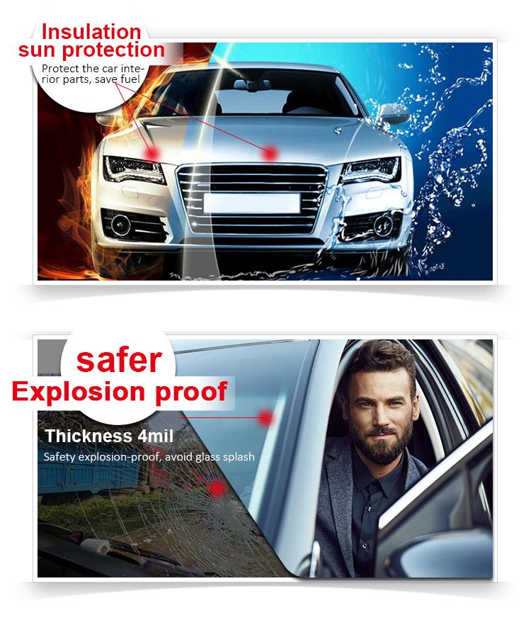 काले काले ग्रे चिंतनशील सजावटी यूवी सुरक्षात्मक सूरज नियंत्रण संरक्षण कार विंडोज फिल्म