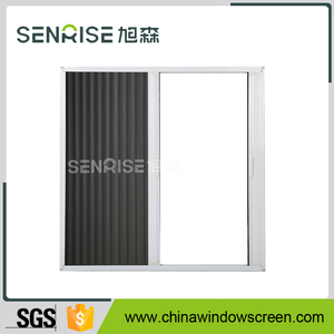 Horizontal sliding Pleated Retractable Insect Screen Door