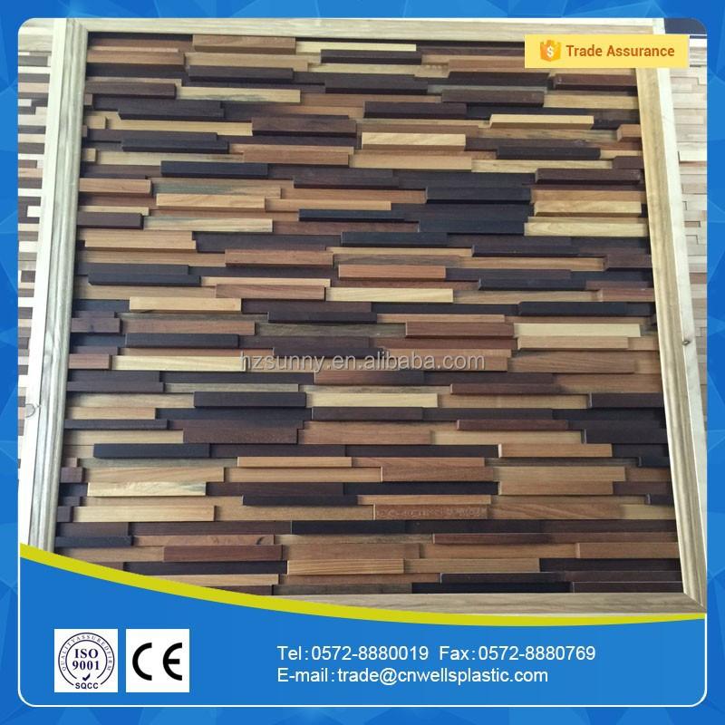 Hei er verkauf holz dekorative 3d wandpaneel tapeten wand for Tapeten verkauf