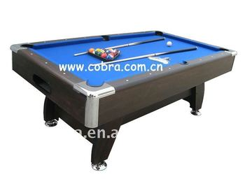 Kbl Monarch Fusion Pool TablePlastic Chrome CornerWool Fabric - Chrome pool table