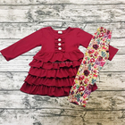Girls Boutique Clothing Wholesale Children Toddler Clothes Girls Skirts Set Ruffled Girls Outfit Boutique Outfit