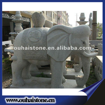 Carved Life Size Garden Stone Animal Statues Granite Elephant Statues Sale