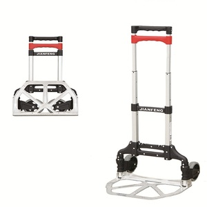 aluminum Portable foldable Hand Truck, aluminum cart, 2 wheels trolley