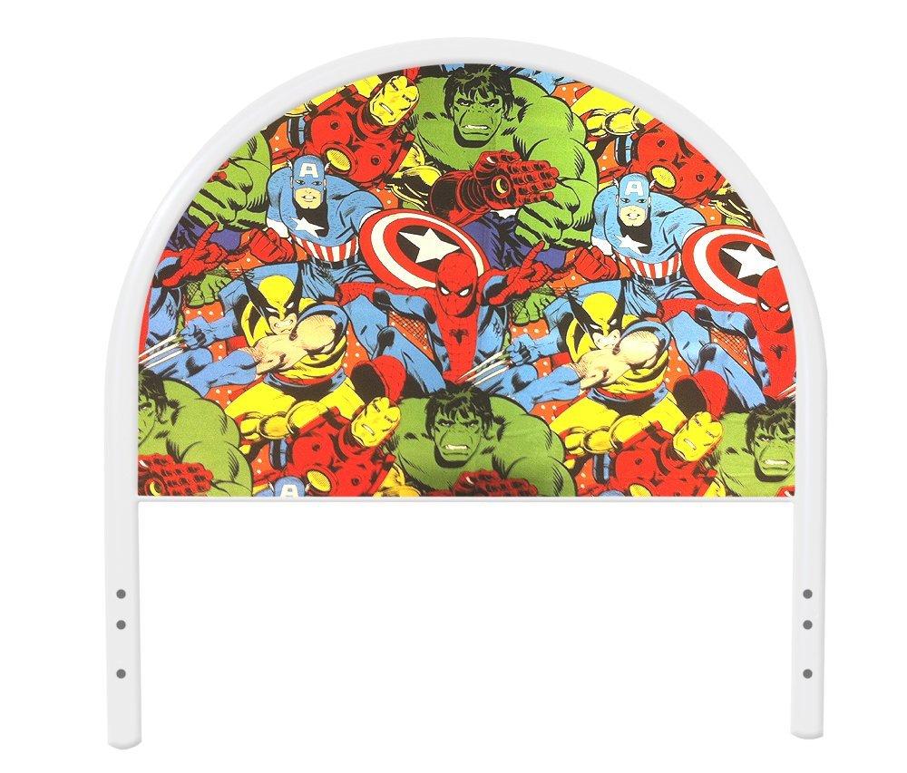 New Twin Size Children's Youth White Metal Headboard with Custom Avengers Superheros Upholstered Headboard