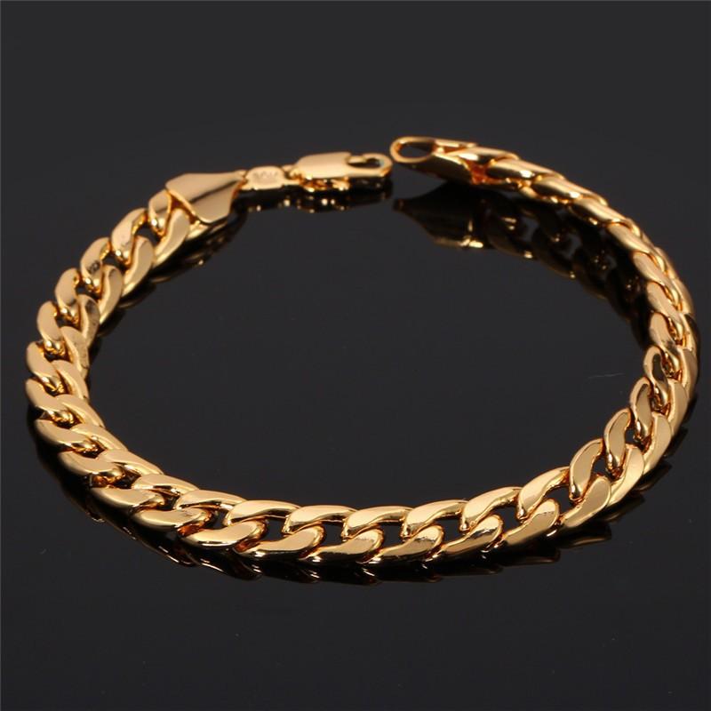 2019 Hot Trendy Gold Bracelets Men Jewelry Accessories