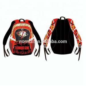 OEM Unique Dance Cheer Sublimated garment backpack bags wholesale