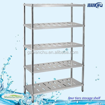 kitchen shelving 5 layers farge size restaurant kitchen stainless rh alibaba com Induatrual Restaurant Kitchen Shelves Kitchen Restaurant Furnitures