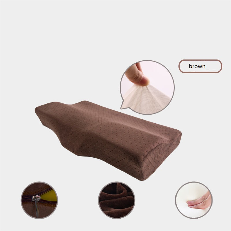 wholesale custom memory foam good night neck pain traction cervical support contour pillow for spondylosis