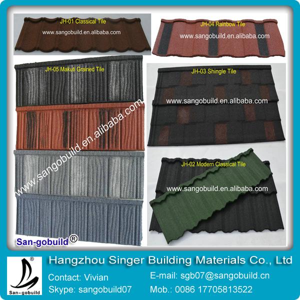 SGB Brand Big Discount Metal Roofing Shingles And PVC Rain Gutter