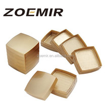 Square powder compact packaging for luxury metal gold powder compact of fashion cosmetics