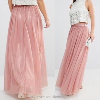 b1483367e81316 Lange rokken voor vrouwen met hoogbouw tailleband en zip-back bevestiging  designer meisjes lange rokken