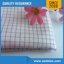 98%polyester and 2%,110-205gsm Carbon white color ESD Grid Fabric