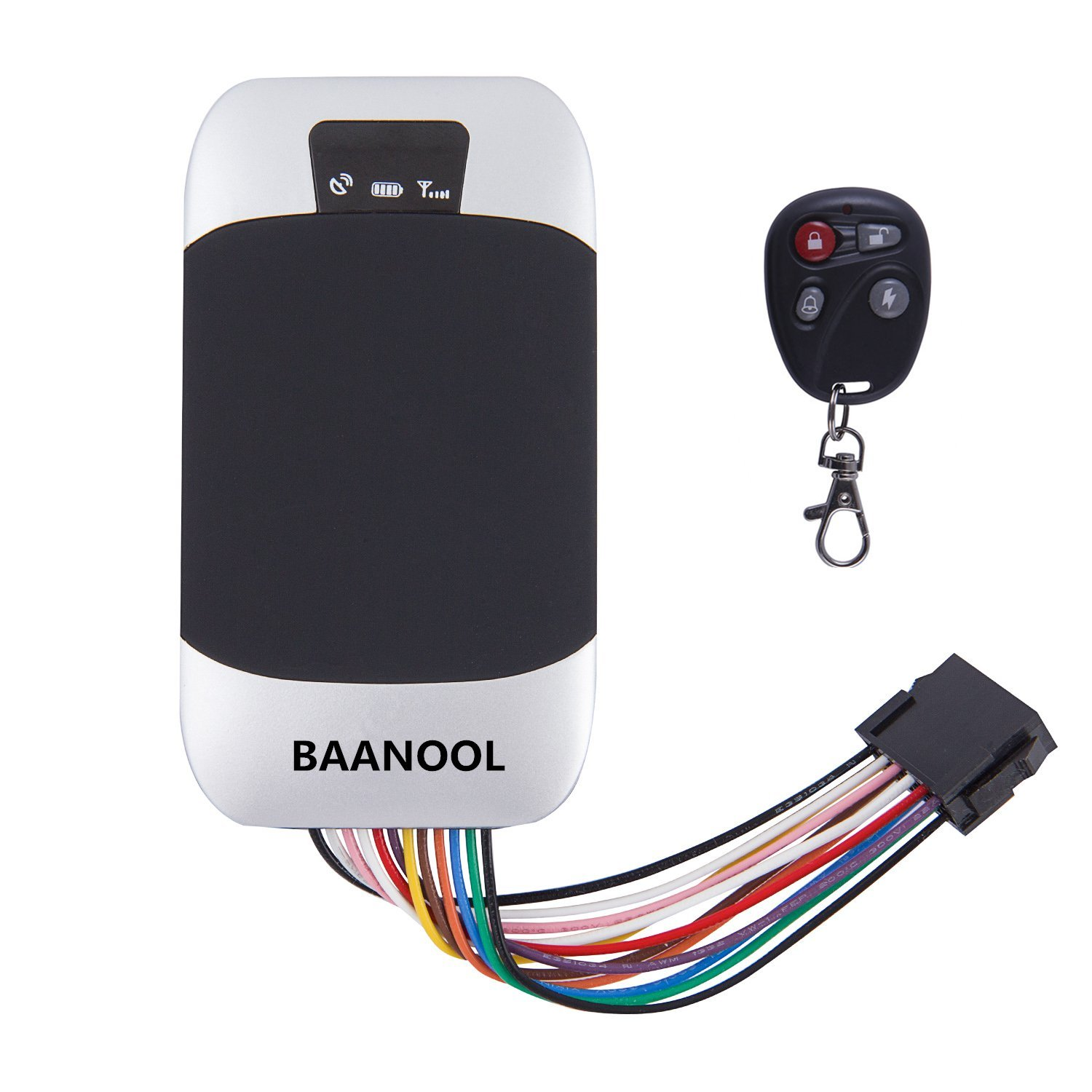 Car GPS Tracker BAANOOL Real Time GPS Tracking Device Car Tracker Device Remote Control Waterproof GPS Tracker Anti-Theft Car Tracking Alarm System 303G