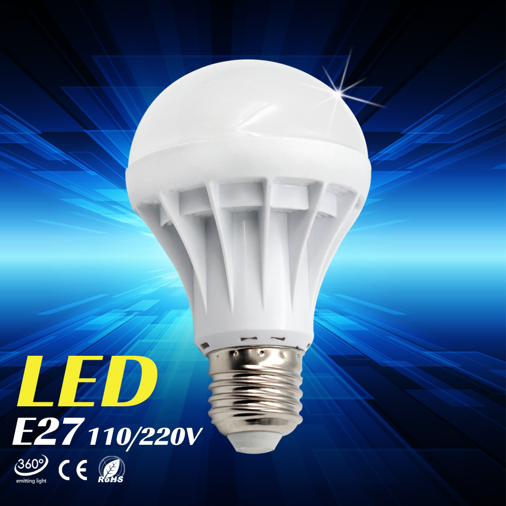 Lampada led lamp e27 e14 110v 220v light led bulb 7w 9w for Lampade e27 a led