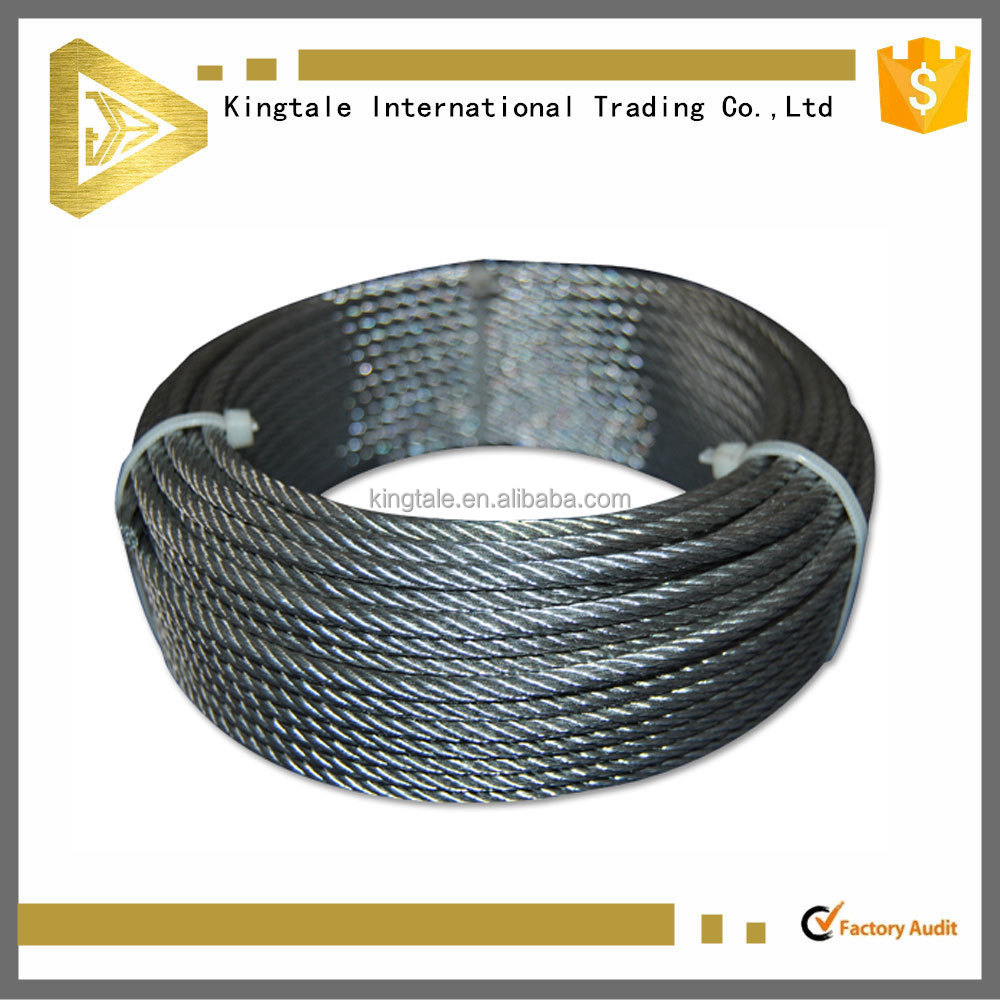 201 6x31 ungalvanized stainless steel wire rope for making spring
