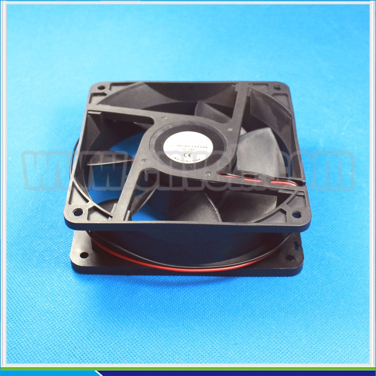 F07 120mm 110v ac axial cooling fan 120x120x38mm black color inverter cooling fan