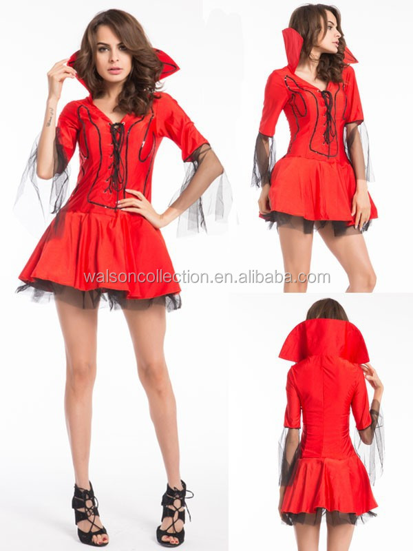 Red Devil New Fancy Dress Costume Halloween Ladies Female Costume Hen Party Adult Halloween Costume