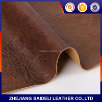 buffalo & cow upholstery leather breathable faux pu leather pu leather for bags