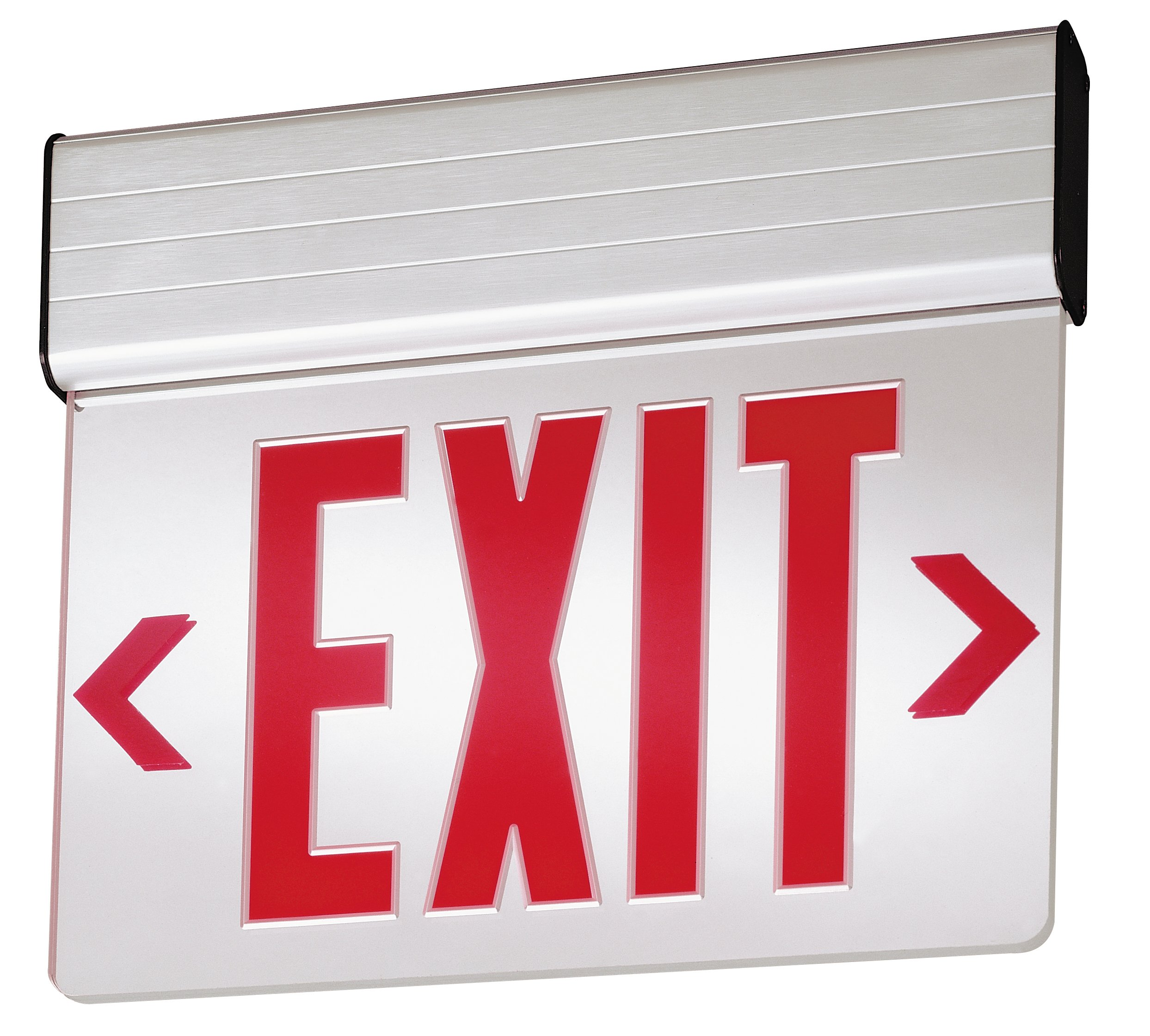 Lithonia Lighting EDG 1 R EL M6 Aluminum LED Emergency Exit Sign
