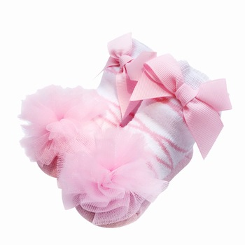 Pink Ballet 0-24month Newborn Baby Sock Factory Manufacturer Wholesale