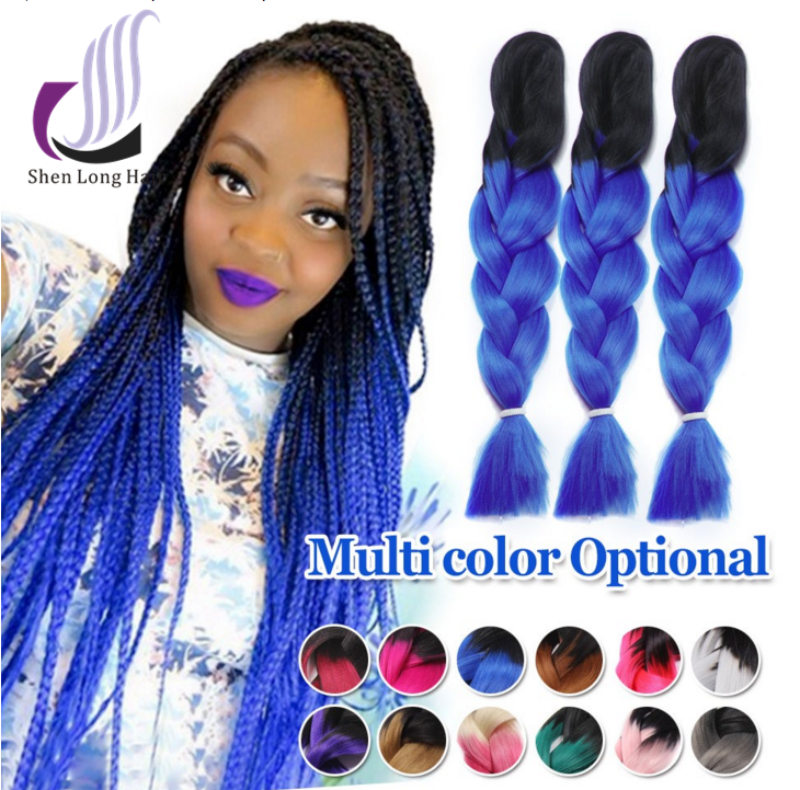 Braids Synthetic Hair Extensions 24inch Two Tone Toyokalon Braiding