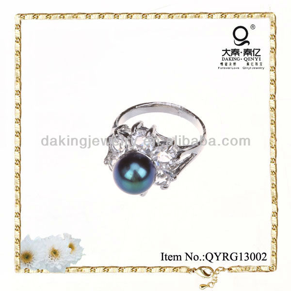 2013 fashion jewelry freshwater pearl ring