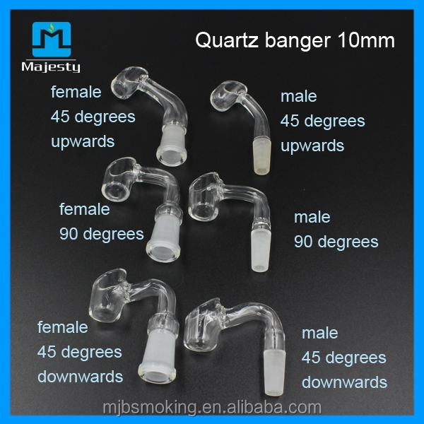 4MM 3MM thick quartz banger nail domeless quartz bucket nail for smoking pipe