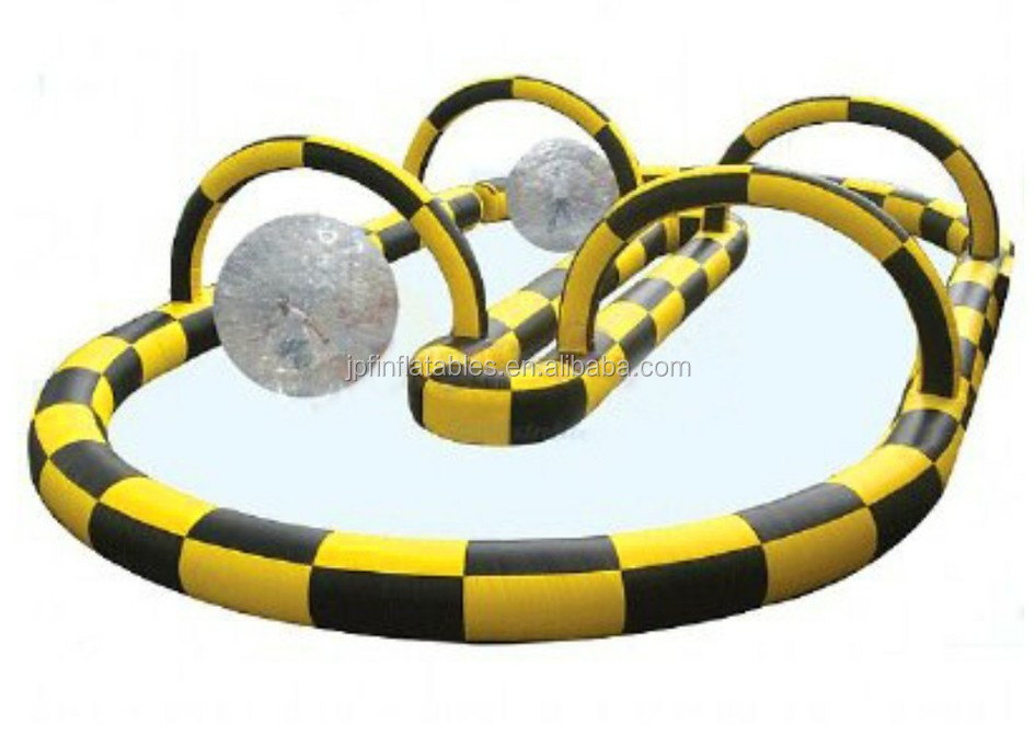 2019 Inflatable Zorb Ball Race Track/go kart racing track for sporting events