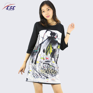Custom Top Quality Ladies Casual Sublimation Print Dress