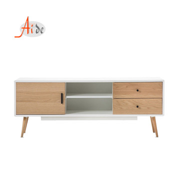 wood tv stand with storage showcase for living room furniture
