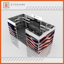 10 years factory 6x3 aluminum extrusion standard Modular Partition Shell Scheme Trade Show Expo Display Exhibition Booth